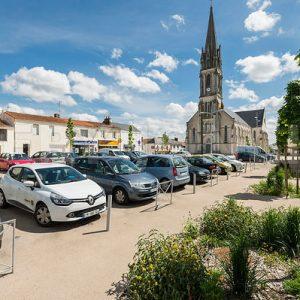 Photo:Saint Sebastien sur Loire,ville de l agglomeration nantaise situee au sud de la loire